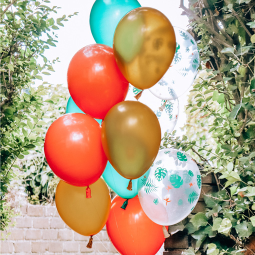 Coloured Latex Helium Rubber Fireworks Air Balloon 6 pieces