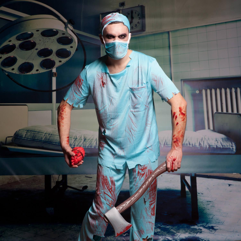 Bloody Surgeon Costume Size M L
