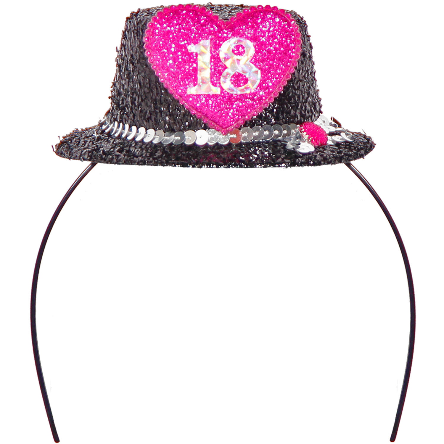 18th Birthday Hat With Hearts On Tiara