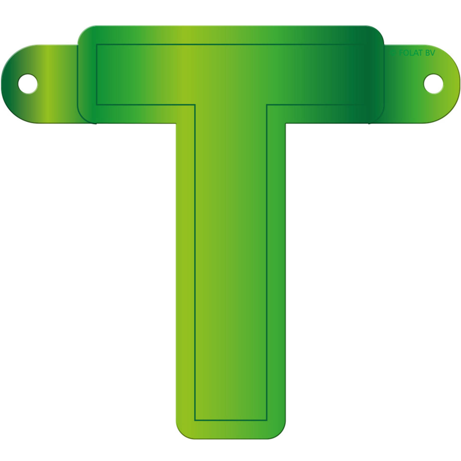 Banner    Garland Letter T Lime Green