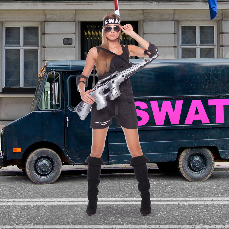 5e7d040afdefa5 SWAT Kostuum Dames 3-delig Maat L-XL 4