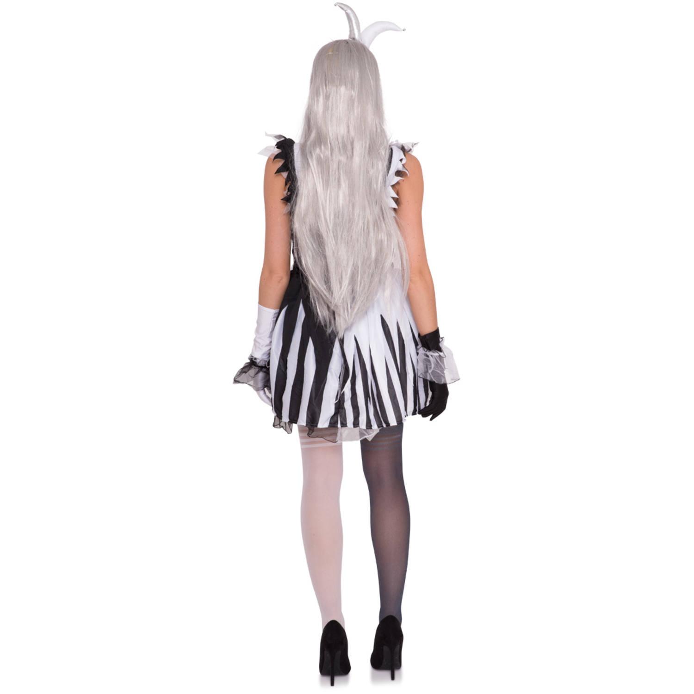 skelettclown-kleid für damen - s-m