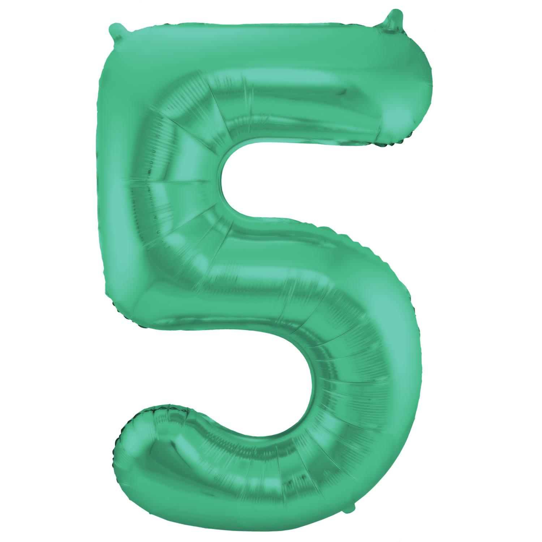 Grüner Metallic Matt Folienballon Zahl 20   20 cm