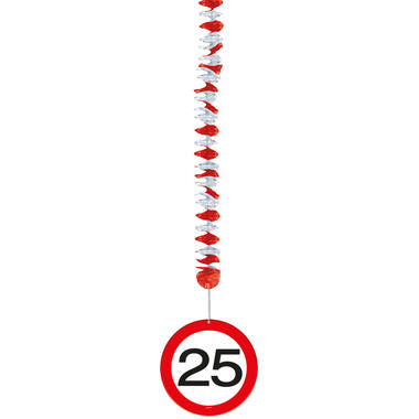 25th Birthday Traffic Sign Hangers - 3 pieces  2