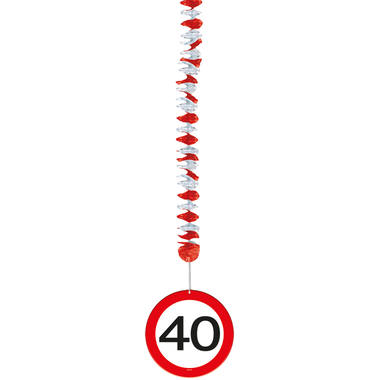 40th Birthday Traffic Sign Hangers - 3 pieces 2