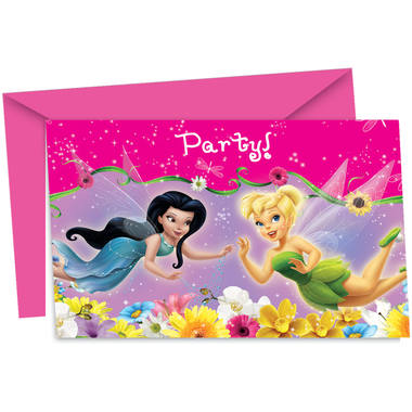 Tinker Bell Invitations - 6 pieces 1