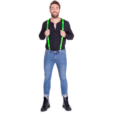 LED Suspenders Neon Green 1