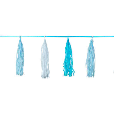 Blue Birth Garland with Fringes - 3 m 1