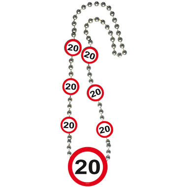 20th Birthday Traffic Sign Necklace 1
