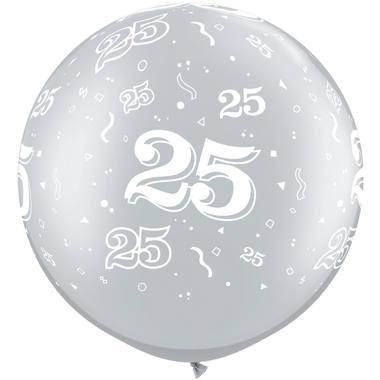 30 cm Geburtstag /& Party Luftballons Zahl 25 8 Stk. FOLAT 08245 silber