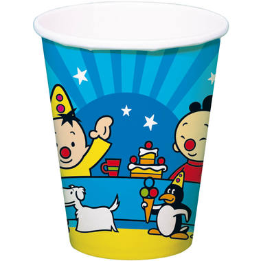 Bumba Clown Birthday Disposable Cups 250 ml - 8 pieces 1