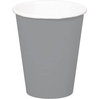 Silver Disposable Cups 350 ml - 8 pieces 2