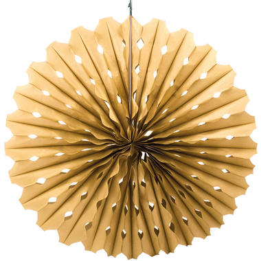 Honeycomb fan Goud 45cm 1