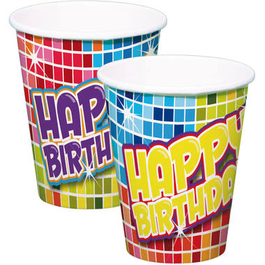 Disposable Cups Birthday Blocks - 6 pieces 1