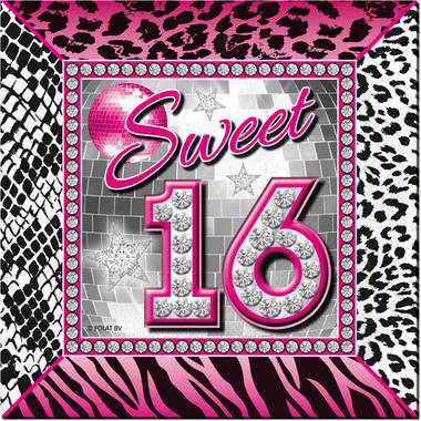 Sweet 16 Napkins - 20 pieces 1
