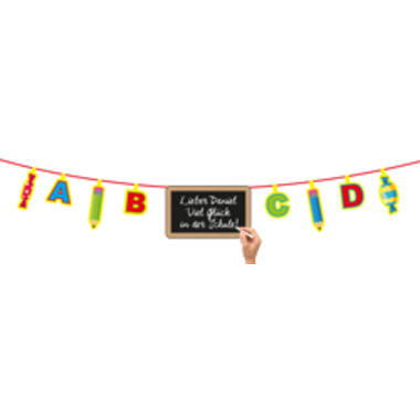 Children's Party ABC Bunting Garland with Writable Board - 4 m 1