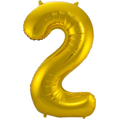 2 Shaped Number Foil Balloon Gold - 86 cm 1