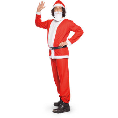 Santa Claus Costume 5 pieces for Men - Size M-L 1