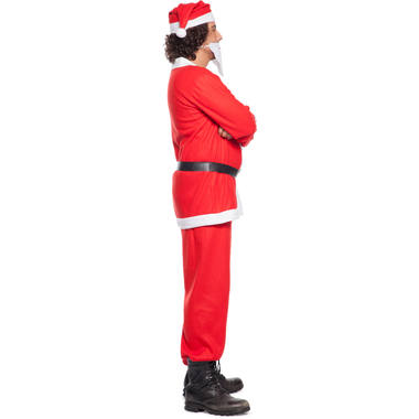 Santa Claus Costume 5 pieces for Men - Size M-L 3