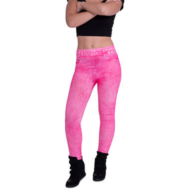 Jeans Leggings Neon Pink 1