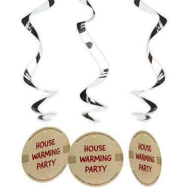 Housewarming Party Hanging decoration - 3 pieces 1
