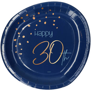 Disposable Plates Elegant True Blue 30 Years 23cm - 8 pieces 1
