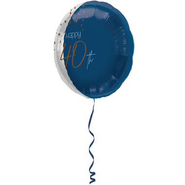 Foil Balloon Elegant True Blue 40 Years - 45cm 1