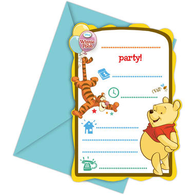 Winnie the Pooh Invitations - 6 pieces 1