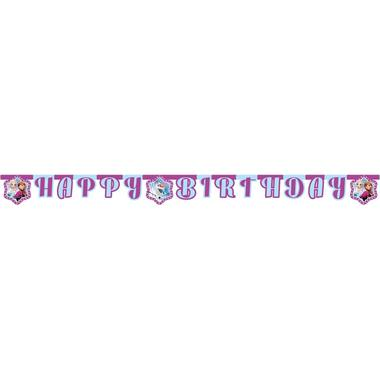 Letter garland Frozen Lights 'Happy Birthday' - 1.8 m 1