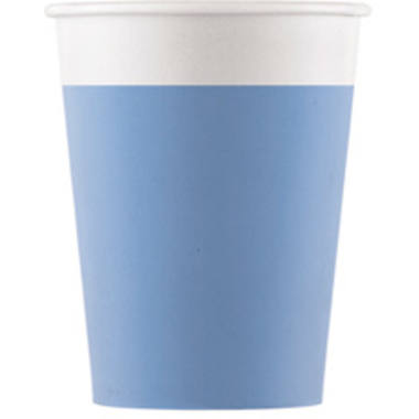 Cups Paper Compostable Blue 200ml - 8 pieces 1