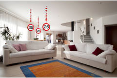 25th Birthday Traffic Sign Hangers - 3 pieces  3