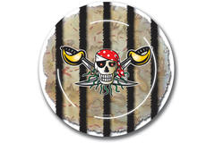 Red Pirate Disposable Plates - 8 pieces 1