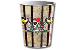 Red Pirate Disposable Cups - 8 pieces 1