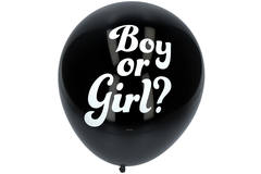Gender Reveal Balloon Boy with blue Confetti 41cm - 3 pieces 2