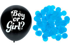 Gender Reveal Balloon Boy with blue Confetti 41cm - 3 pieces 1