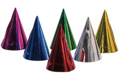 Colourful Party Hats - 6 pieces 1