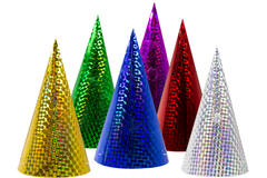 Colourful Party Hats Prismatic - 6 pieces 1