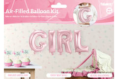 Baby Pink Foil Balloon Set Girl 1