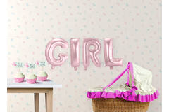 Baby Pink Foil Balloon Set Girl 2