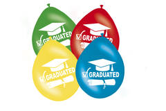 Passed Balloons 'Graduated' various colours 30 cm - 8 pieces 1