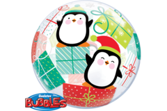 Bubbles Balloon Christmas Penguins - 56 cm 1