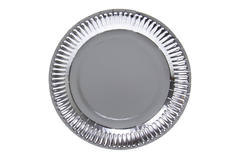 Silver coloured Metallic plates 23 cm - 8 pieces 1