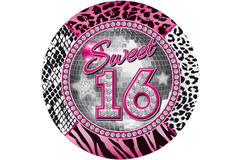 Sweet 16 Disposable Plates - 8 pieces 1