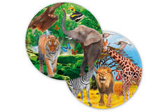 Safari Party Disposable Plates 23 cm - 8 pieces 1