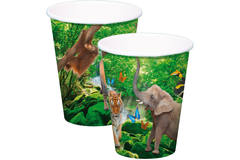 Safari Party Disposable Cups 250 ml - 8 pieces 1