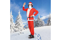 Santa Claus Costume 5 pieces for Men - Size M-L 5