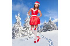 Christmas Dress with LED for Women - Size S-M 4