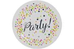 Disposable Plates Confetti Party 23 cm - 8 pieces 1
