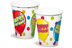 Happy Birthday Party Disposable Cups - 6 pieces 1