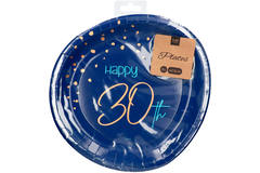 Disposable Plates Elegant True Blue 30 Years 23cm - 8 pieces 2